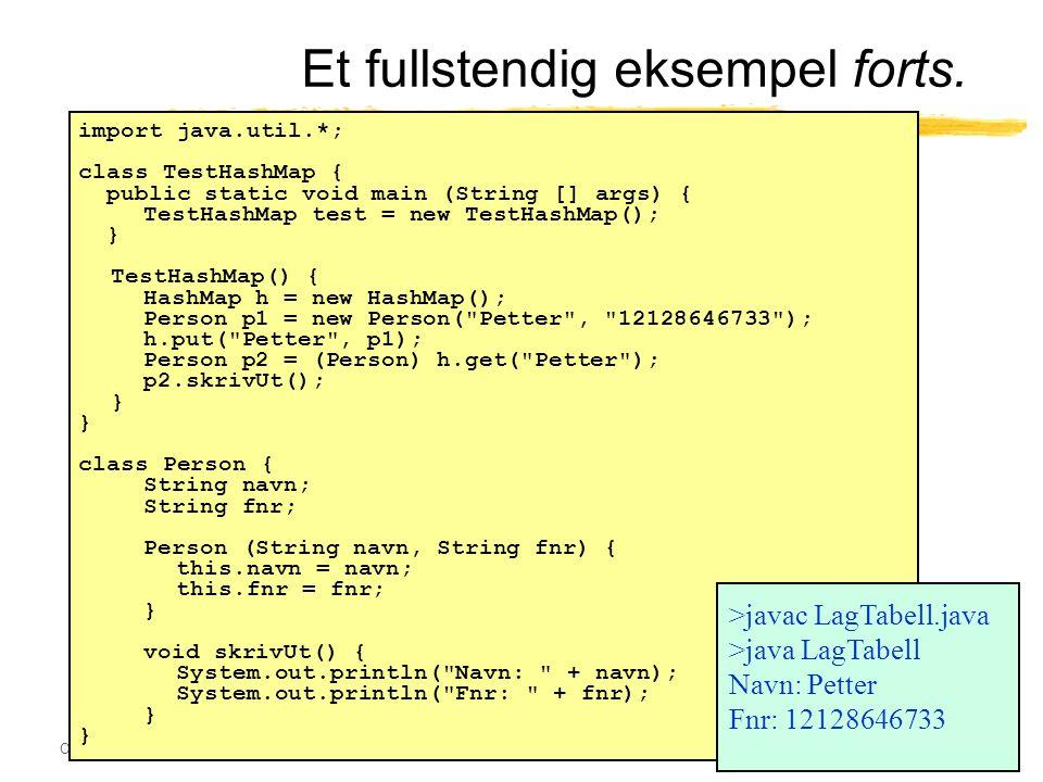 Ole Chr. Lingjærde © Institutt for informatikk4. november 2003 26 Et fullstendig eksempel forts.