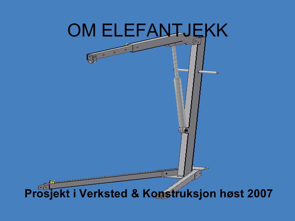 OM ELEFANTJEKK Prosjekt i Verksted & Konstruksjon høst 2007
