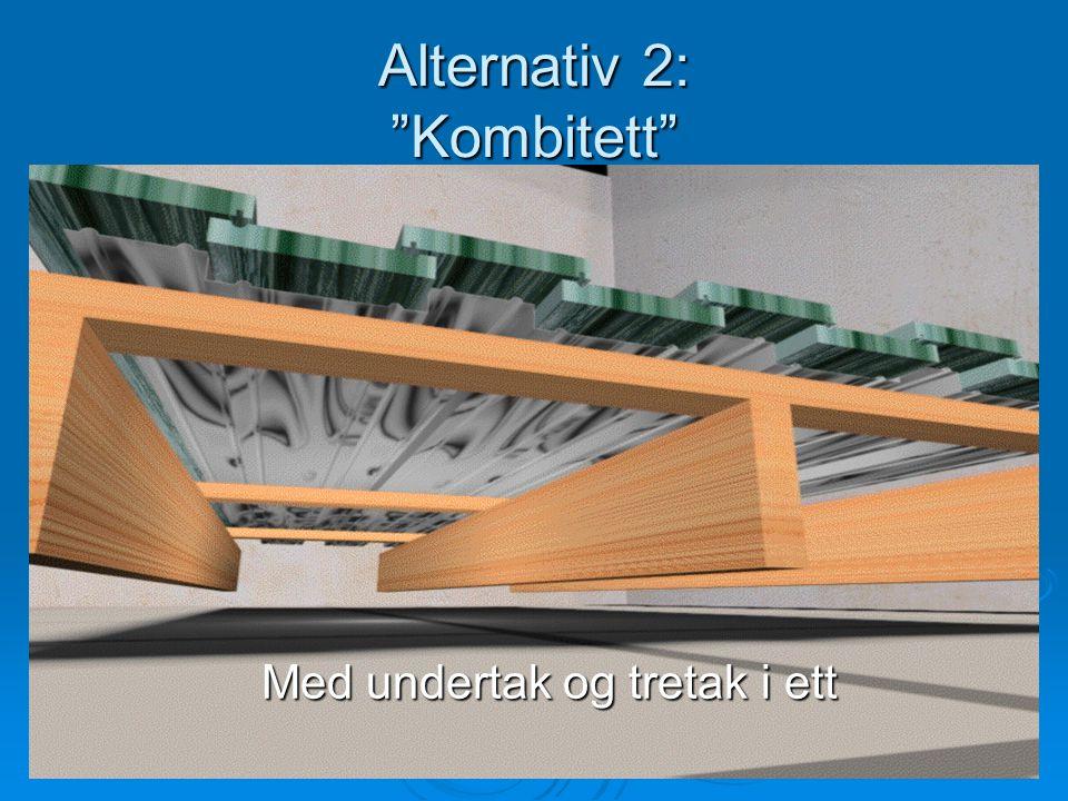 "Alternativ 2: ""Kombitett"" Med undertak og tretak i ett Med undertak og tretak i ett"