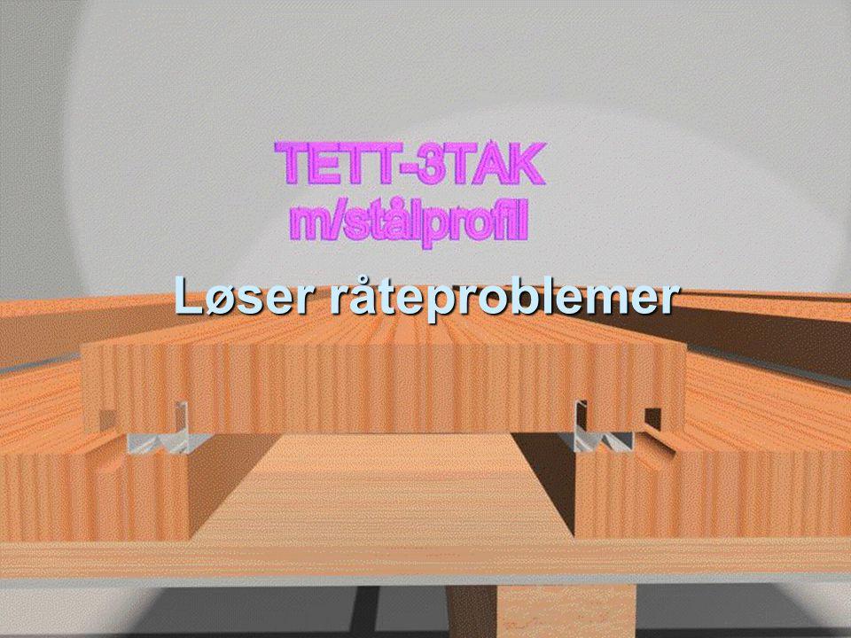 Kostnadssammenligning med undertak  Kombitett  4% billigere enn malmfuru  30% dyrere enn TETT- 3TAK og 50% dyrere enn takstein  Pris på tynnplateprofil virker urimelig høy  Kunne valgt billigere undertak til TETT- 3TAK