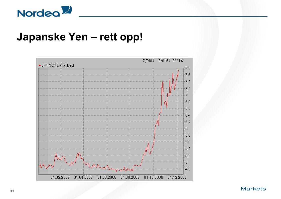 13 Japanske Yen – rett opp!