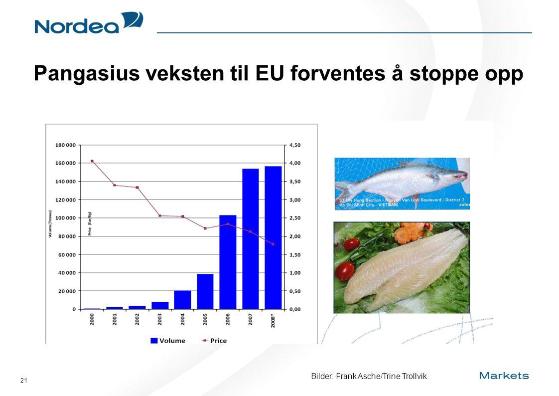 21 Pangasius veksten til EU forventes å stoppe opp Bilder: Frank Asche/Trine Trollvik