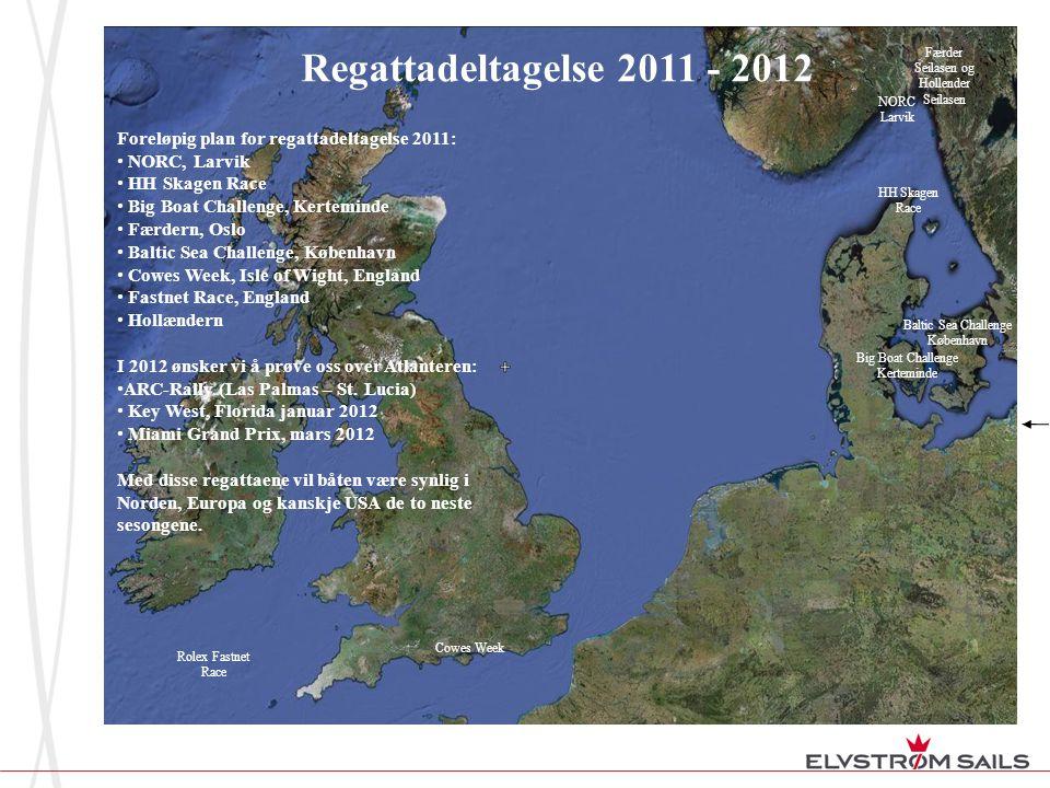 Regattadeltagelse 2011 - 2012 Foreløpig plan for regattadeltagelse 2011: • NORC, Larvik • HH Skagen Race • Big Boat Challenge, Kerteminde • Færdern, O