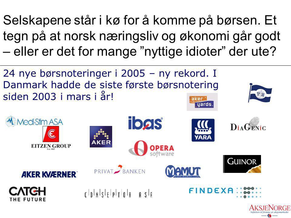 1. Håndsmarkedet..notering av selskaper første gang – IPO..registrering av ny kapital ved emisjoner..omsetning av tegningsretter Kontrollfunksjon ASA.