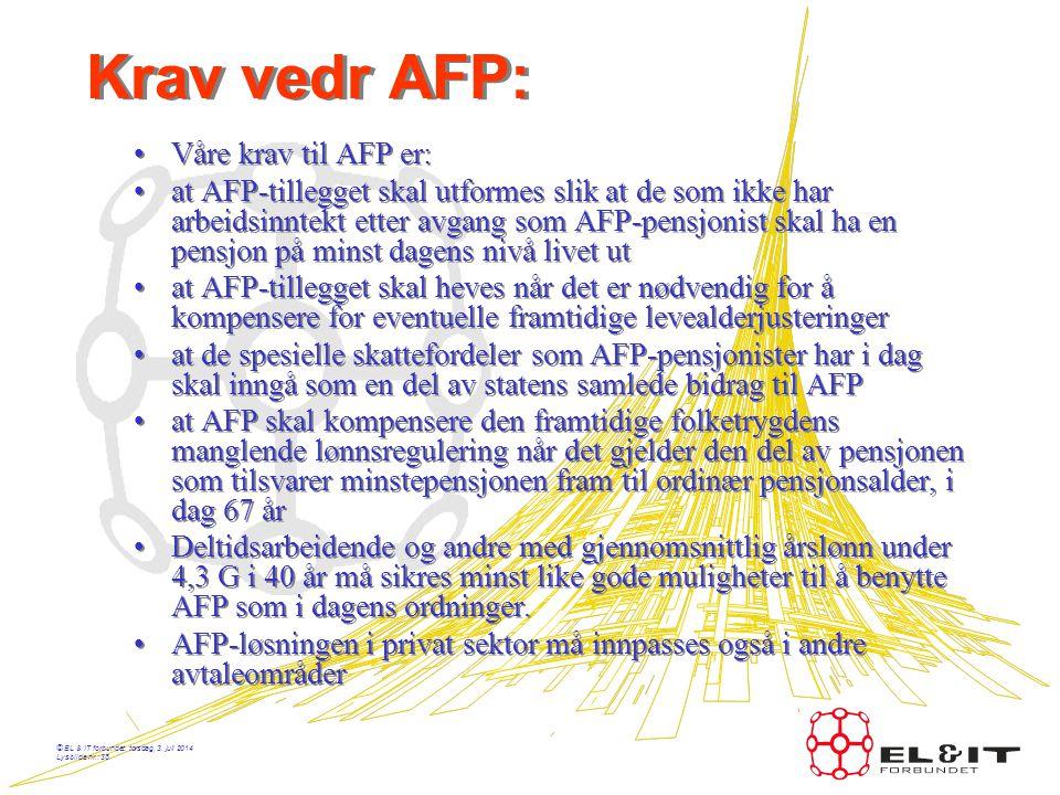 © EL & IT forbundet, torsdag, 3. juli 2014 Lysbilde nr.: 37 Akkord - Historikk •1930 – Komite starter arbeidet med å utvikle en akkordliste •1936 – In