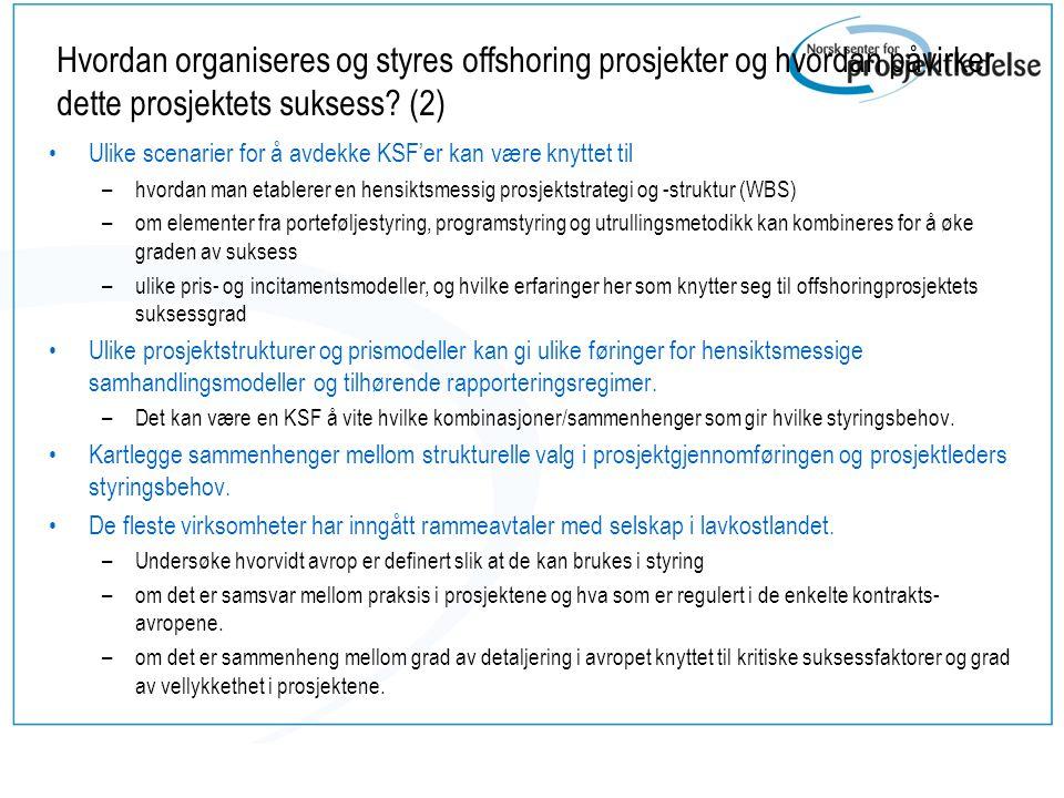 Hvordan kan agil metodikk benyttes i offshoring prosjekter.