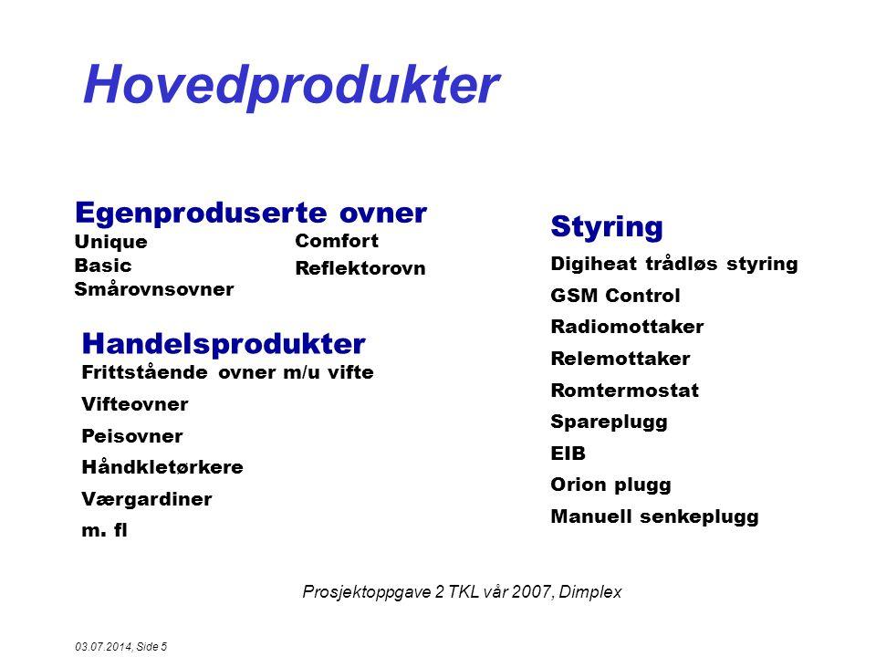 Prosjektoppgave 2 TKL vår 2007, Dimplex 03.07.2014, Side 6 Hvem er vi.