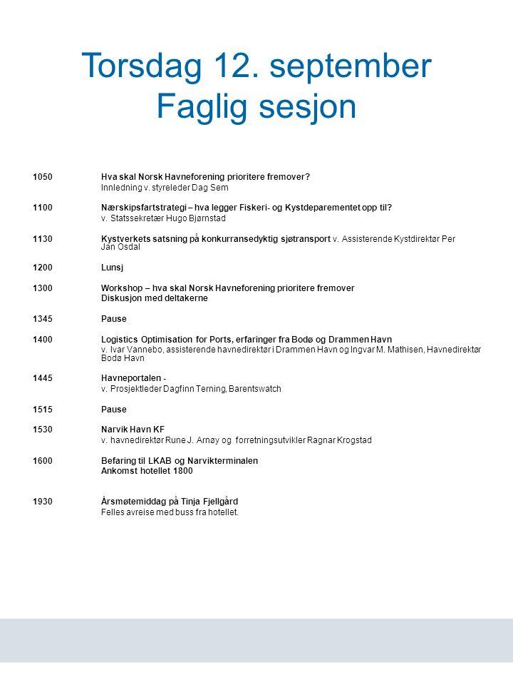 www.havn.no Torsdag 12.