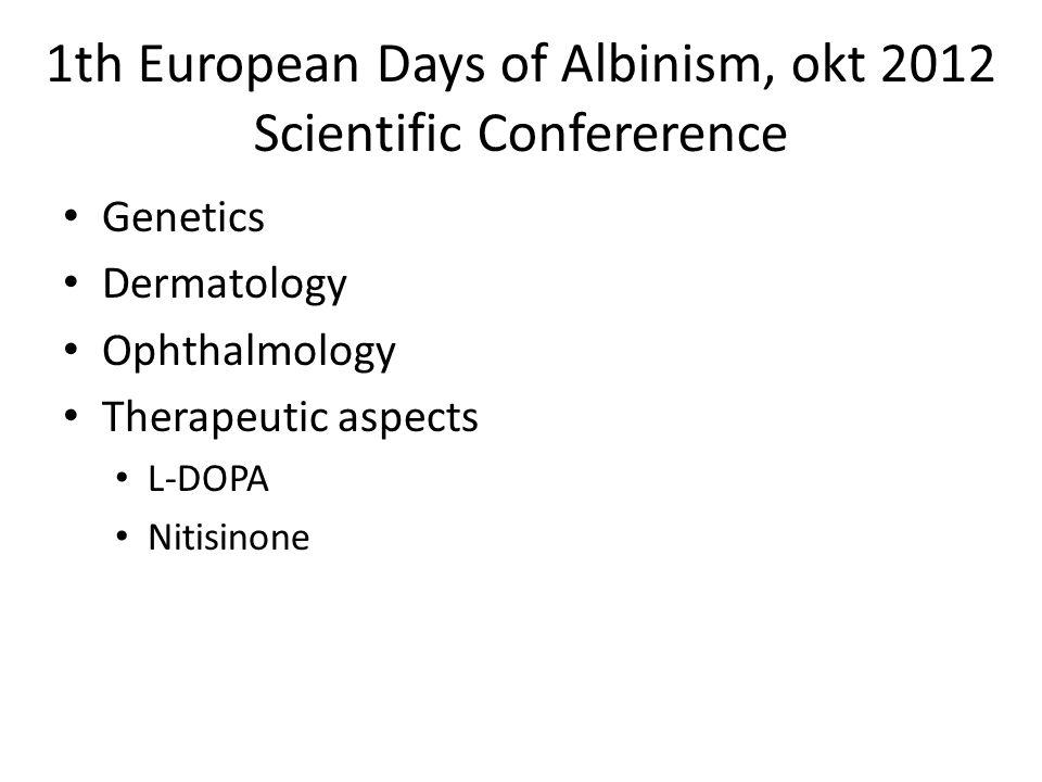 Pilotforsøk på mennesker • Hvis vi har en medisin som kan øke pigment vil den forbedre synsevnen • Fovea utvikles videre etter fødselen • 5 voksne med albinisme type OCA1b • 2 mg dgl nitisione (Orfadin) • Måle effekt ved pigment konsentrasjon – iris translumination