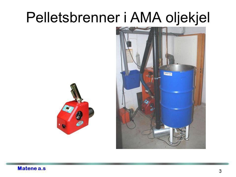 Matene a.s Pelletsbrenner i AMA oljekjel 3