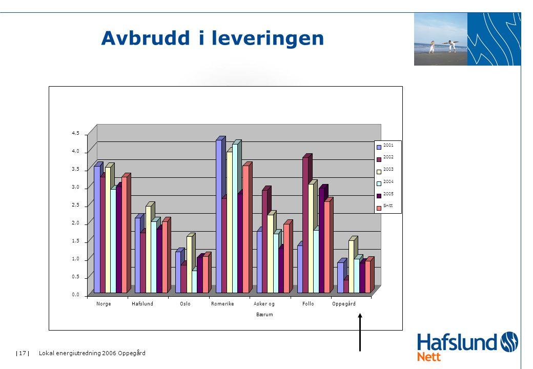  17  Lokal energiutredning 2006 Oppegård Avbrudd i leveringen