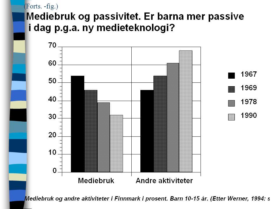 Mediebruk og passivitet. Er barna mer passive i dag p.g.a. ny medieteknologi