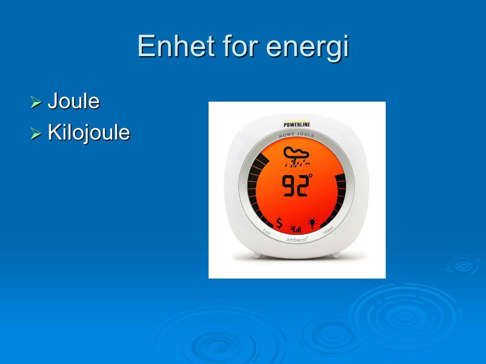Energibehovet vårt kan variere  Varierer etter treningsmengde, kjønn, kroppsvekt, alder osv.