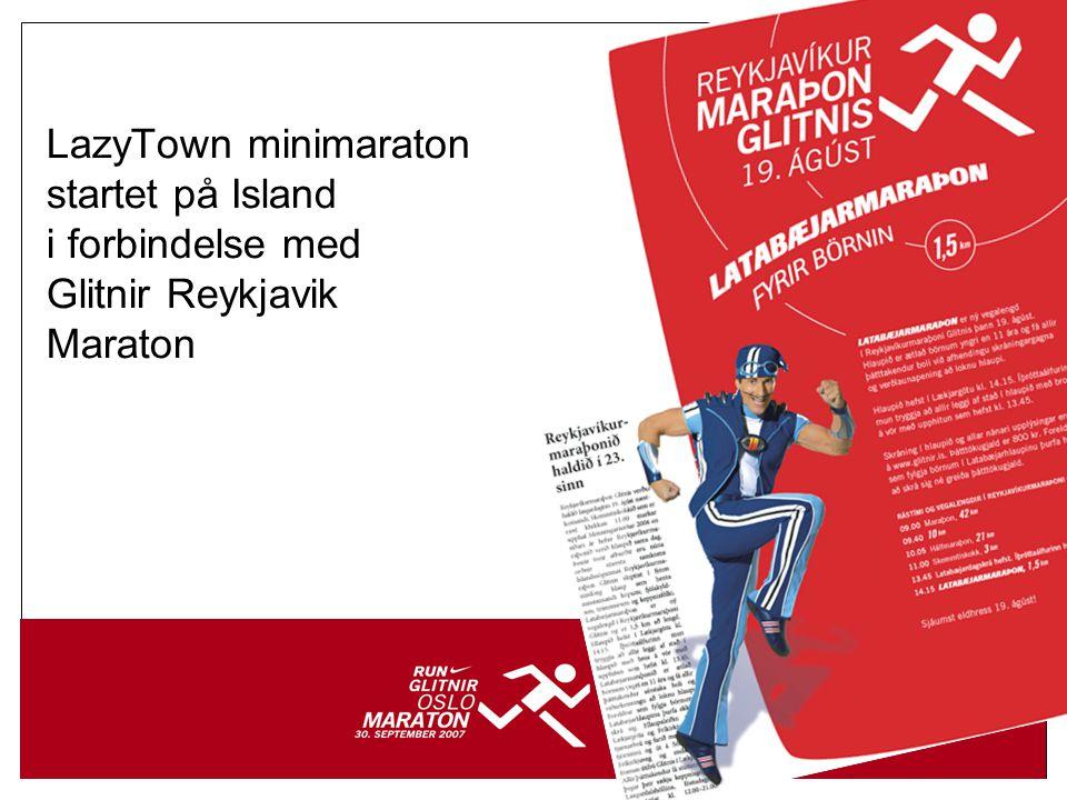 8 Over til de aller minste… •42 barn fra Ekeberg Idrettsbarnehage… •…alle påmeldt i LazyTown Minimaraton… •…har en treningsavtale med Grete Waitz