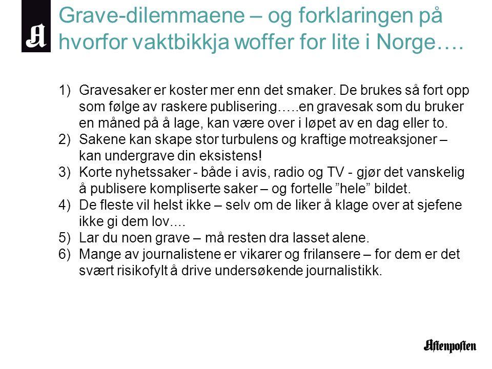 Grave-dilemmaene – og forklaringen på hvorfor vaktbikkja woffer for lite i Norge….