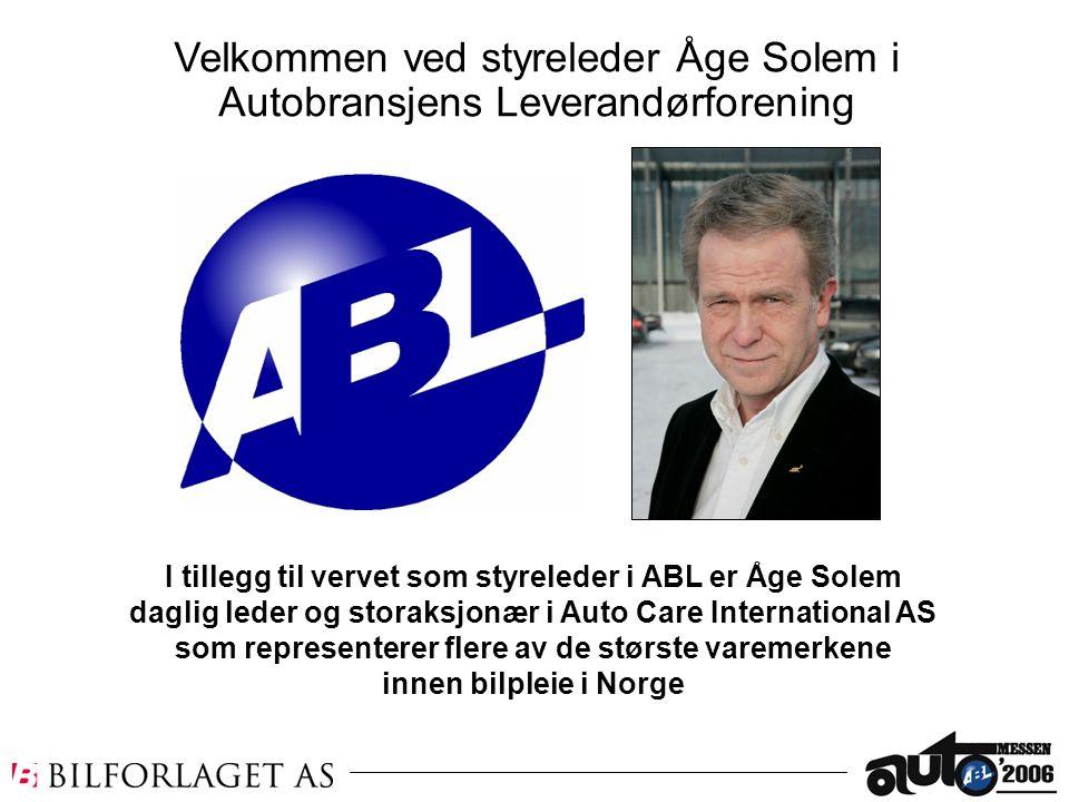 I tillegg til vervet som styreleder i ABL er Åge Solem daglig leder og storaksjonær i Auto Care International AS som representerer flere av de største