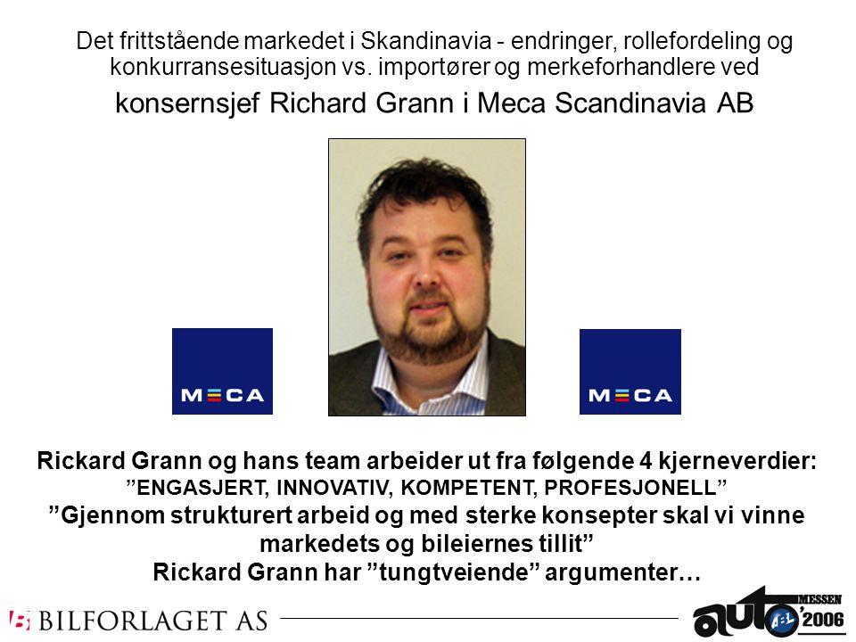 """Rickard Grann og hans team arbeider ut fra følgende 4 kjerneverdier: """"ENGASJERT, INNOVATIV, KOMPETENT, PROFESJONELL"""" """"Gjennom strukturert arbeid og me"""