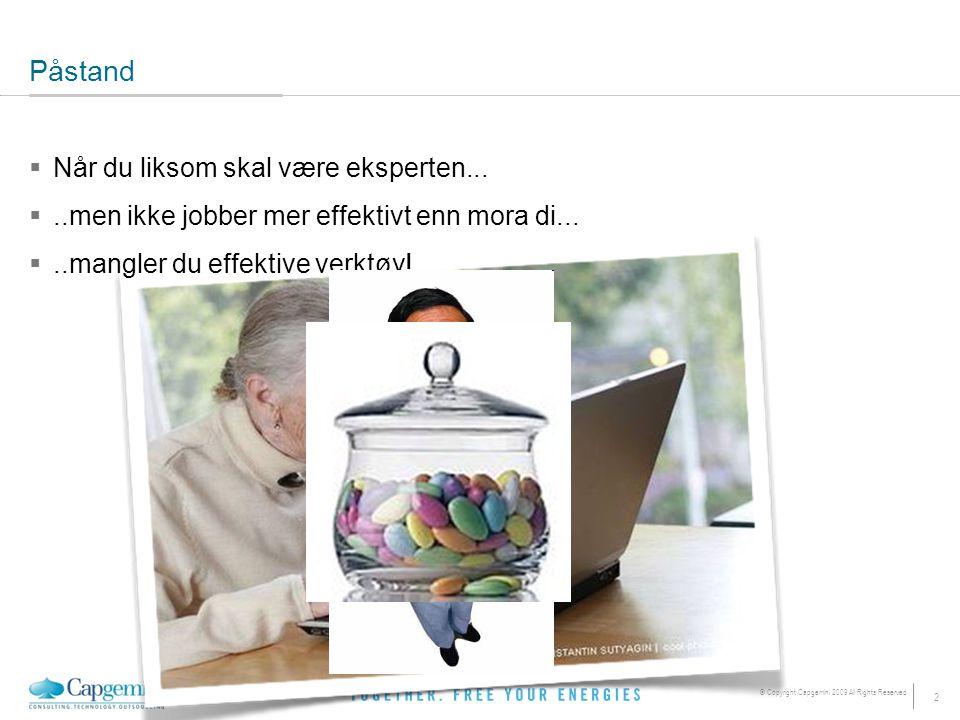 13 © Copyright Capgemini 2009 All Rights Reserved 3: Hold deg i flytsonen  Skaff deg et større clipboard  ClipX