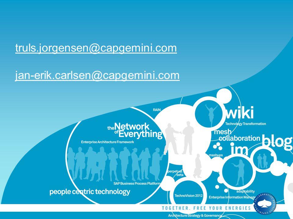truls.jorgensen@capgemini.com jan-erik.carlsen@capgemini.com