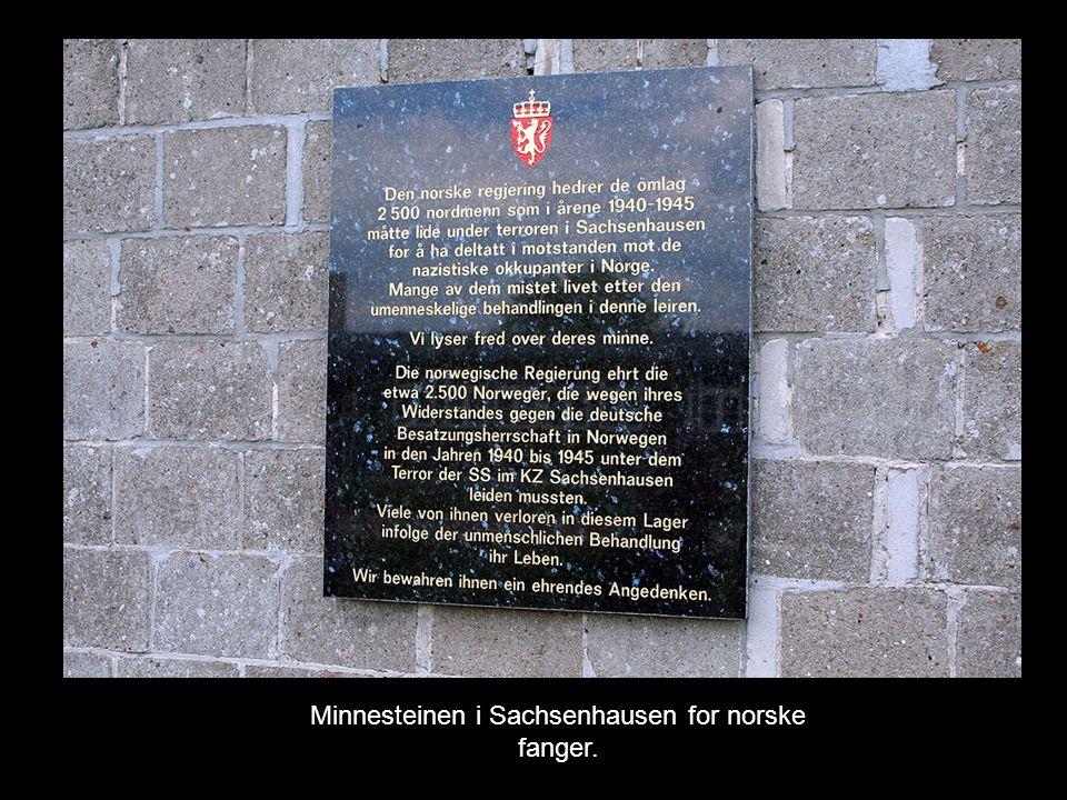 Minnesteinen i Sachsenhausen for norske fanger.