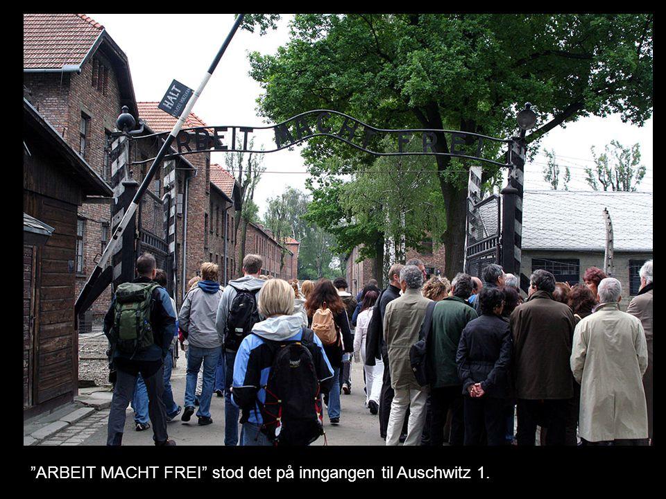 """""""ARBEIT MACHT FREI"""" stod det på inngangen til Auschwitz 1."""