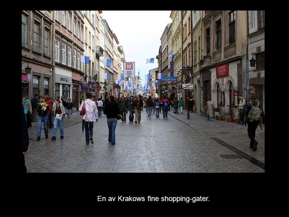 En av Krakows fine shopping-gater.