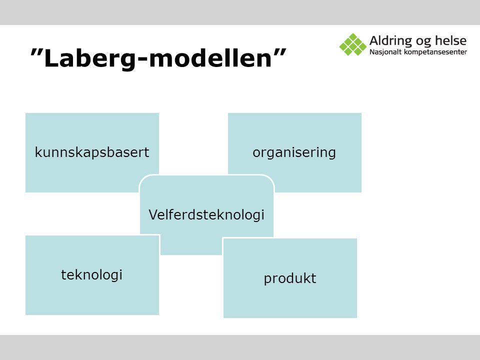 """""""Laberg-modellen"""" kunnskapsbasertorganisering Velferdsteknologi teknologi produkt"""