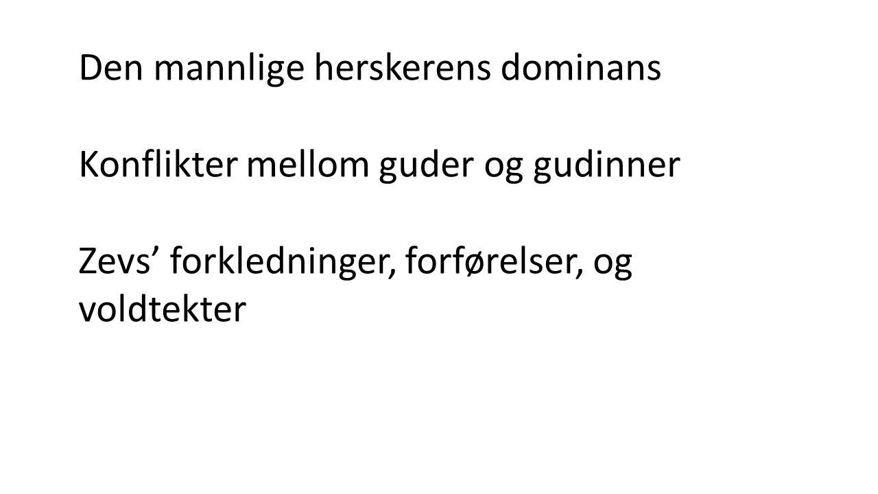 Aiskylos: ca. 80 titler kjent, 7 overlevert Orestien (3) Perserne Fra 1. sang i Odysseen: