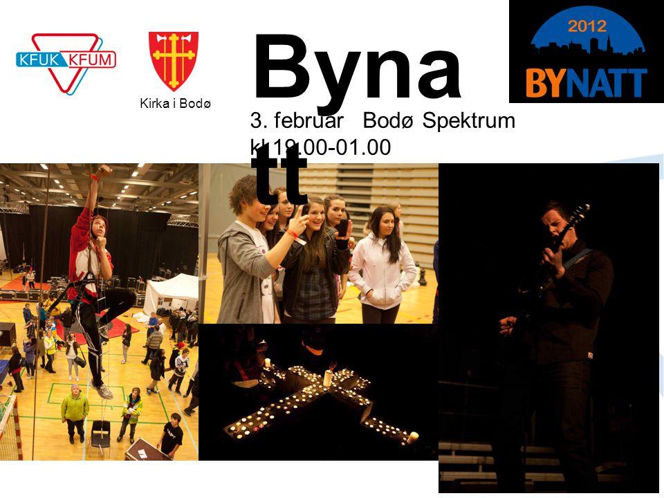 www.kfuk-kfum.no Bynatt 2012 3. februar Bodø Spektrum kl 19.00-01.00 Byna tt Kirka i Bodø