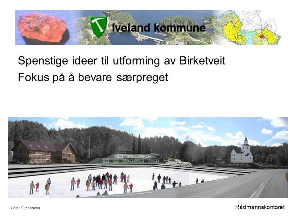 Spenstige ideer til utforming av Birketveit Fokus på å bevare særpreget Rådmannskontoret Foto: Husbanken