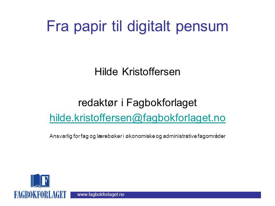 www.fagbokforlaget.no Hva hindrer oss.