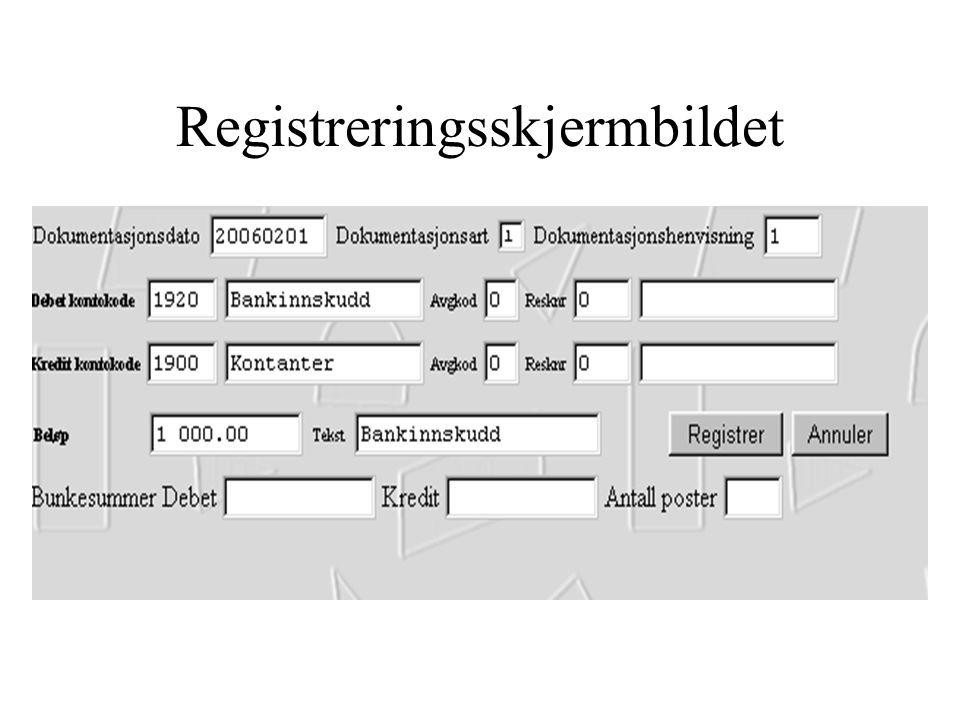 Registreringsskjermbildet