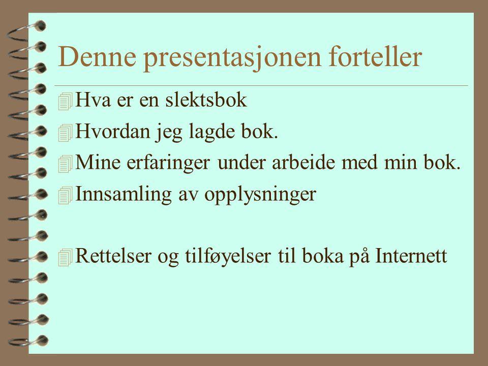 Hvem er jeg Torbjørn Falldalen, født 1967, sykepleier, kone og to barn, bosatt Eidsvoll i Akershus Byttet hobbyer fra Røde Kors og friluftsliv til sle