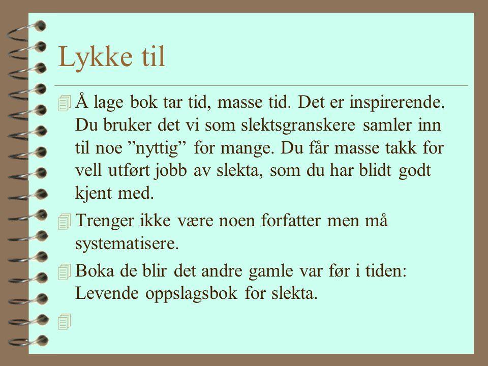 Neste bok Jeg er ikke skremt av å lage bok - Elen Thorsdatter født Daanerud 1833 i Venabygd Ringebu. - mangler morsslekta. Ragnhild Andersdatter levde