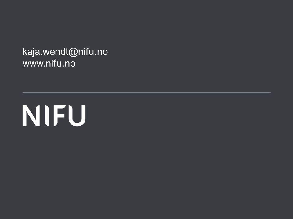 www.nifu.no kaja.wendt@nifu.no