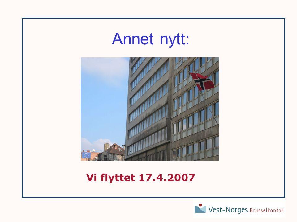 Annet nytt: Vi flyttet 17.4.2007