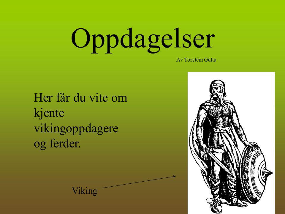 Oppdagelser Av Torstein Galta Her får du vite om kjente vikingoppdagere og ferder. Viking