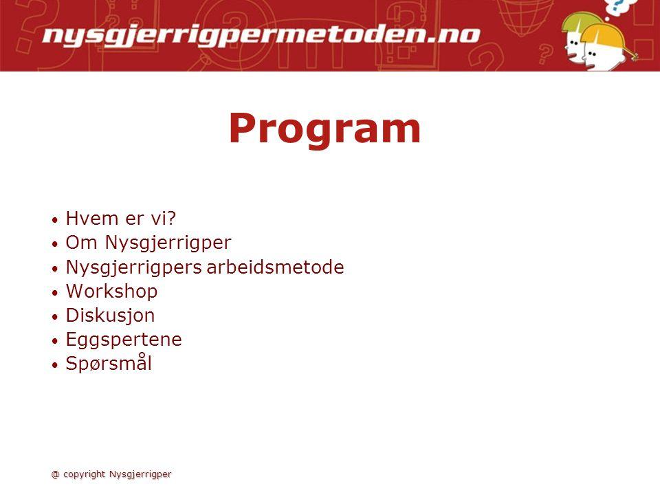Program • • Hvem er vi.