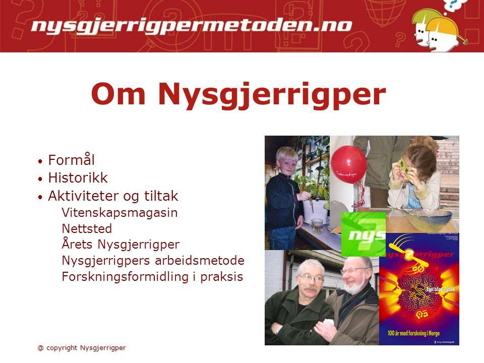 Nysgjerrigpermetoden @ copyright Nysgjerrigper