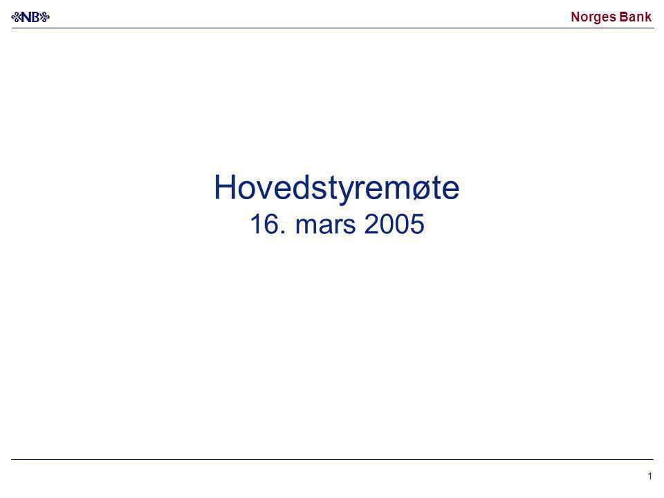 Norges Bank 1 Hovedstyremøte 16. mars 2005