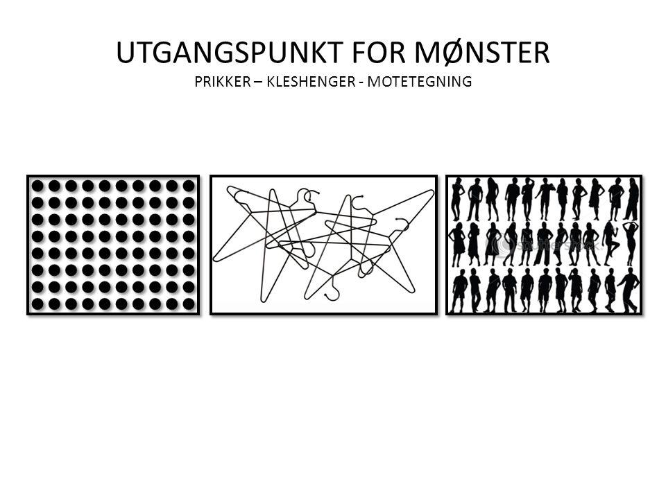 UTGANGSPUNKT FOR MØNSTER PRIKKER – KLESHENGER - MOTETEGNING