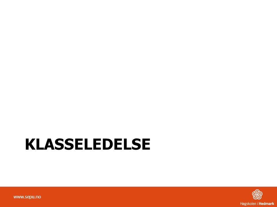 KLASSELEDELSE www.sepu.no