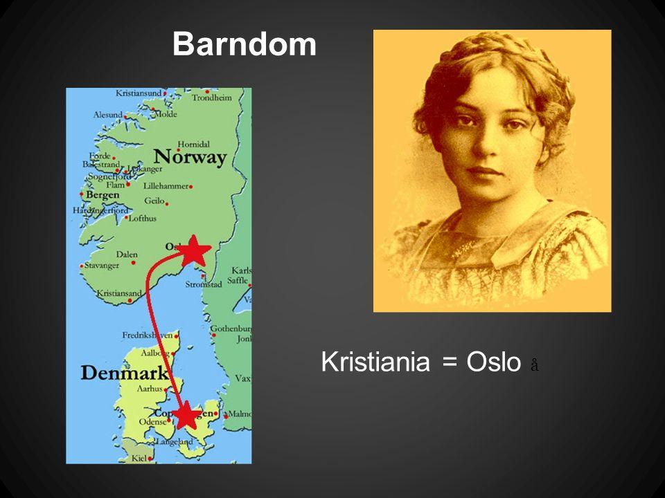 Barndom Kristiania = Oslo å