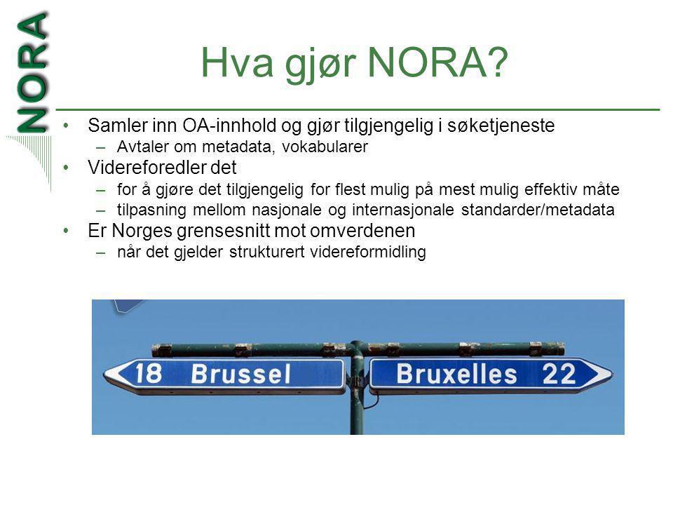 Hva gjør NORA.