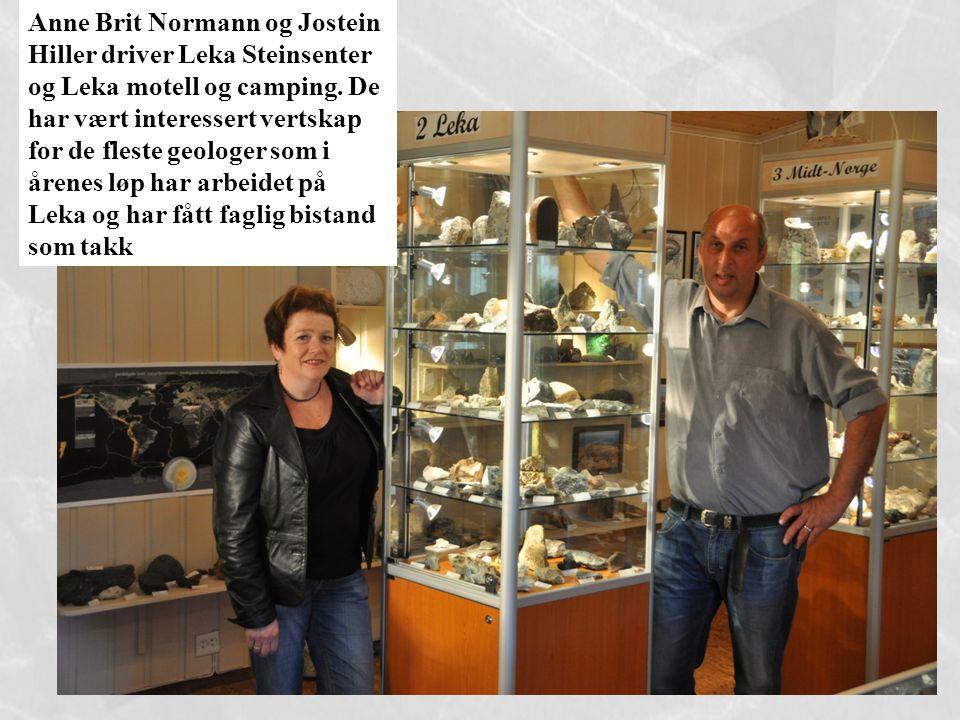 Anne Brit Normann og Jostein Hiller driver Leka Steinsenter og Leka motell og camping. De har vært interessert vertskap for de fleste geologer som i å