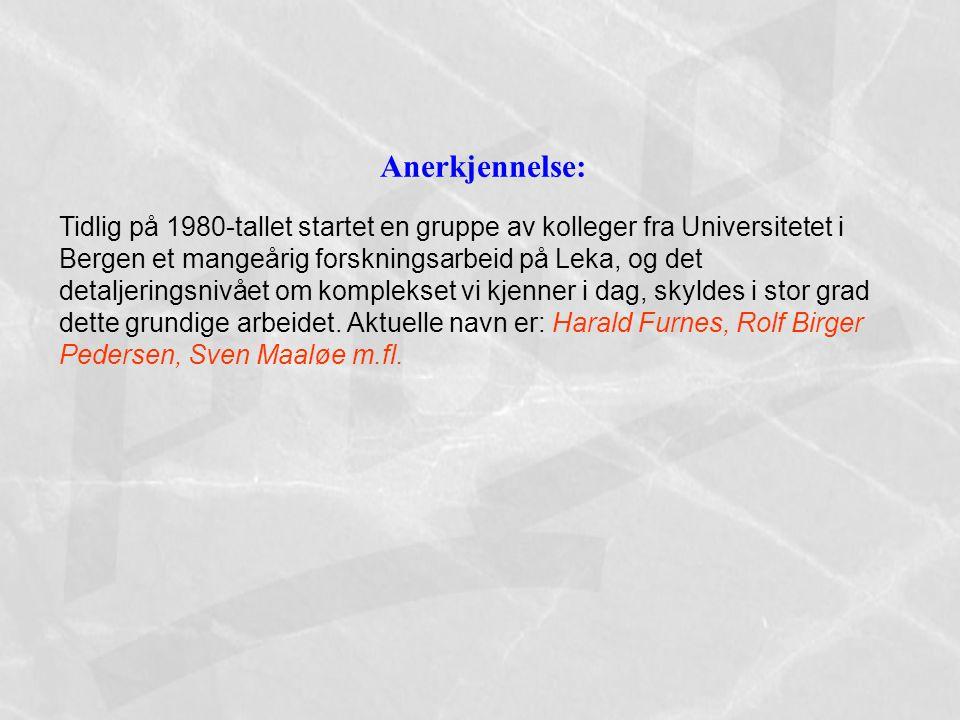 Anerkjennelse: Tidlig på 1980-tallet startet en gruppe av kolleger fra Universitetet i Bergen et mangeårig forskningsarbeid på Leka, og det detaljerin