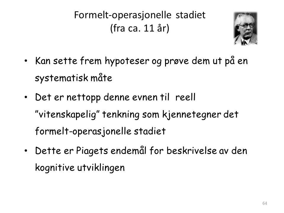 Magne Jensen 200864 Formelt-operasjonelle stadiet (fra ca.