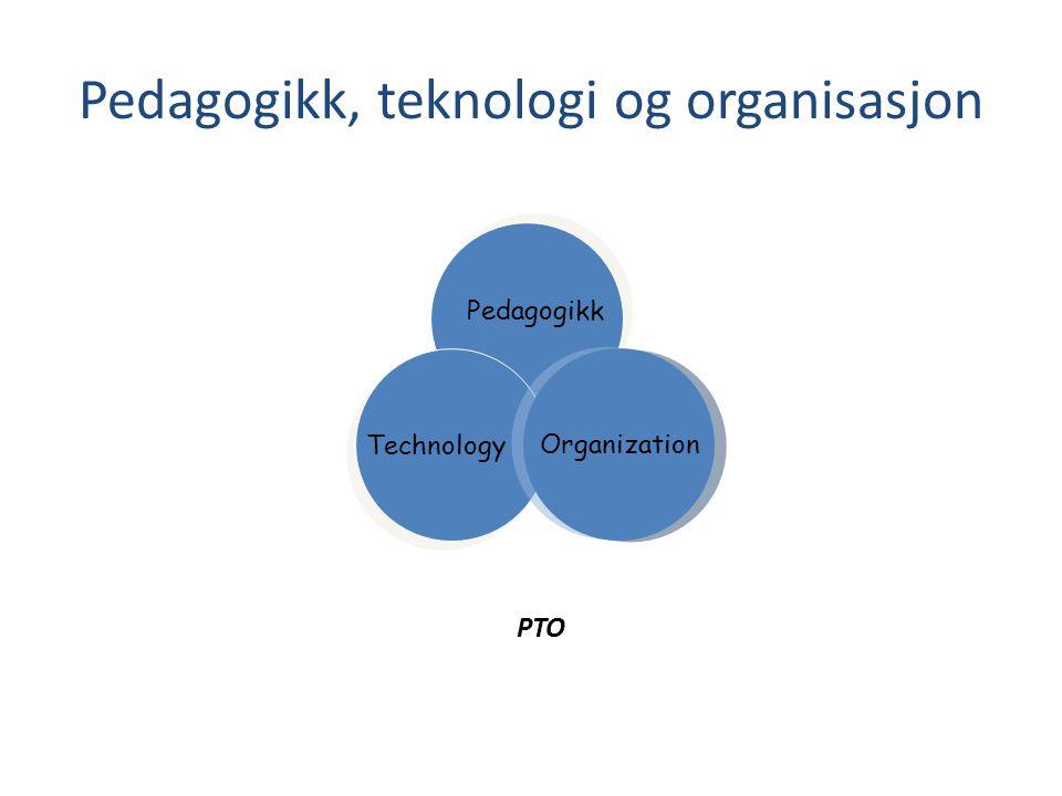 Pedagogikk, teknologi og organisasjon Organization Pedagogikk Technology PTO