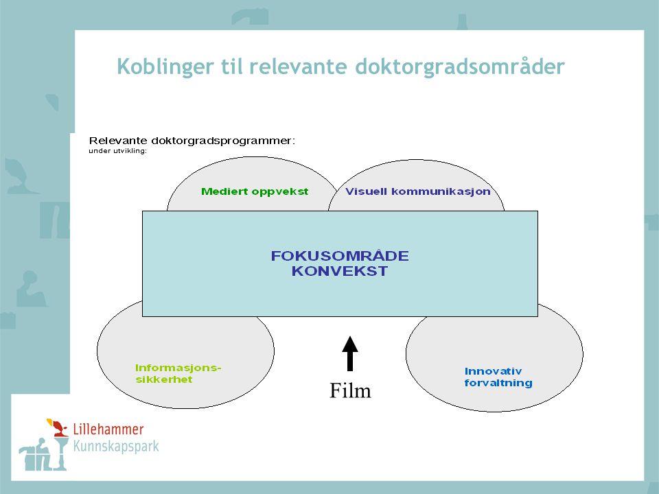 Koblinger til relevante doktorgradsområder Film