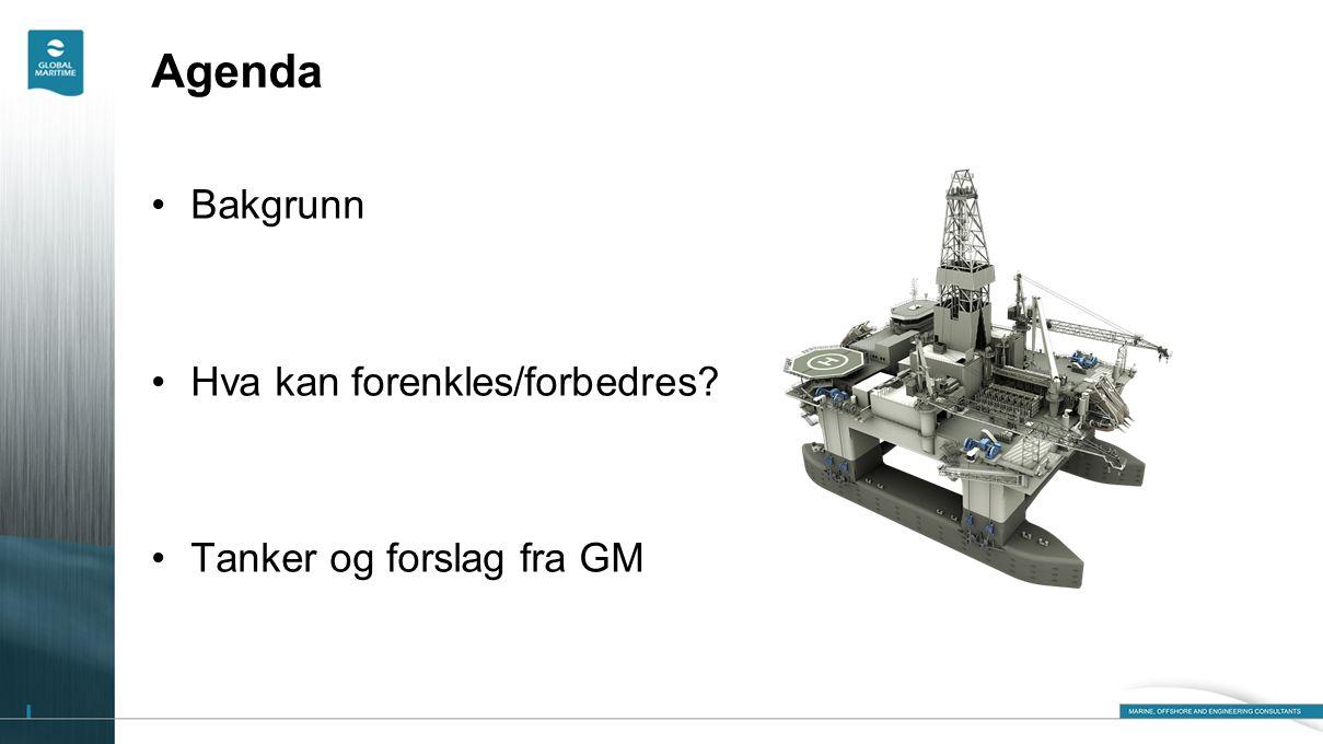 Agenda •Bakgrunn •Hva kan forenkles/forbedres? •Tanker og forslag fra GM